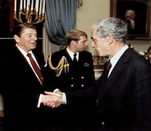 Claiborne Pell Shaking Ronald Reagan's Hands!